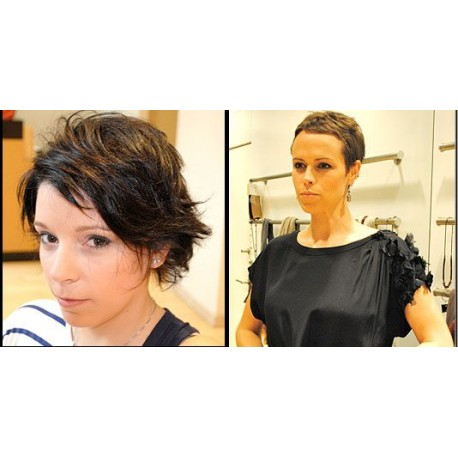 Coiffure : Shampoing / brushing (cheveux courts)